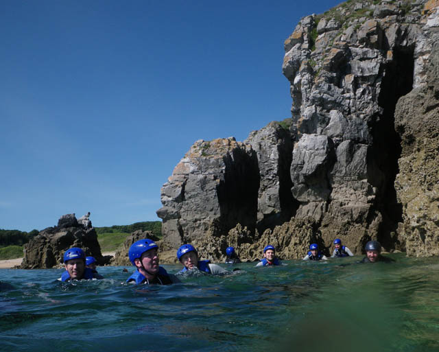 Coasteering Group Swim