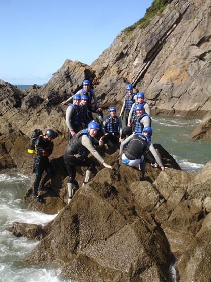 Stag Party Coasteering in Wales